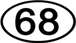 Number 68 Oval (Black)