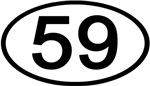 Number 59 Oval (Black)