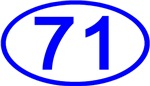 Number 71 Oval (Blue)