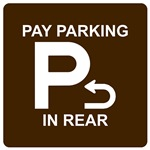 PAY PARKING IN REAR
