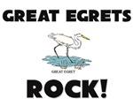Great Egrets Rock!
