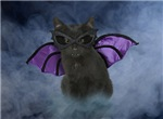 Vampire Cat Halloween Cards