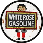 White Rose Gasoline signs