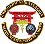USMC - 3rd Medical Battalion with Text