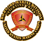 USMC - HQ Bn - 3rd Marine Division With Text