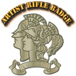 Artist Rifle Badge with Text