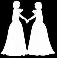 Wedding -  Two Brides Holding hand - Silhouette