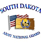 SOUTH DAKOTA ARNG With Flag