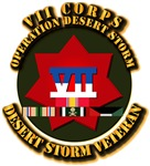 Army - DS - VII Corps w SVC Ribbons