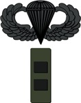 Cheif Warrant Officer 2 -  Pin-On - Airborne