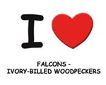falcons - ivory-billed woodpeckers