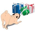 Pug Pulling Presents