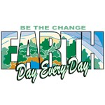 Earth Day Be The Change T-Shirts and Gifts