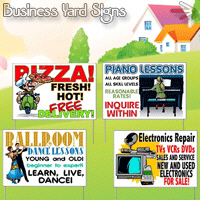 Business Yard Signs