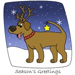 Chocolate Lab Christmas Cartoon