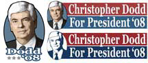 New Christopher Dodd for President Gear