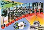 Mississippi Vintage Postcart