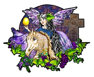 The first Easter Egg Hunt from the Dark Tales of Fairy Eve and The Dragons of Eden original art by Christian Fantasy artist Janice Moore