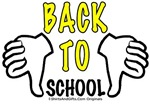 Back To School humor 2 THUMBS DOWN cool t-shirts..