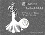 Sexy Billiard Sorceress, Magic 9 Ball Sports Decor