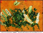Butterfly Bush painting art posters, prints cards