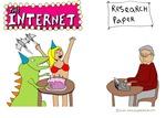 Internet vs Research Paper