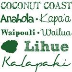 Coconut Coast Kauai Subway Art