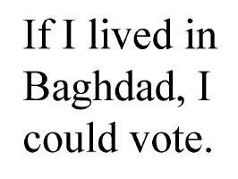 If I lived in Baghdad