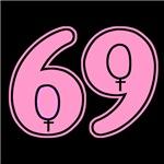 69 gay lesbian symbol