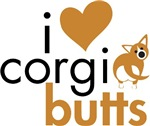I Heart Corgi Butts - Red & White Cardigan