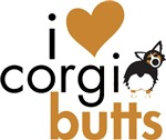 I Heart Corgi Butts - Black Headed Tri Fluffy