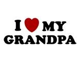 I LOVE GRANDPA SHIRT VALENTINES DAY TEE FATHERS DA