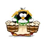 Oktoberfest Bar Maid Penguin