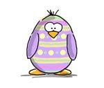 Lavender Easter Egg Penguin
