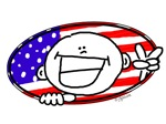 American Peace Sign Smiley