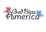 God Bless America Peace Butterflies