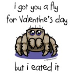 Cute Valentine's spider