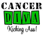 Cancer Diva Kicking Ass T-Shirts & Gifts (Green)