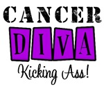 Cancer Diva Kicking Ass T-Shirts & Gifts (Purple)