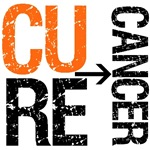 Cure (Leukemia) Cancer Grunge Gear, Shirts & Gifts