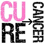 Cure (Breast) Cancer Grunge Gear, Shirts & Gifts
