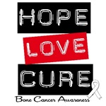 Hope Love Cure Bone Cancer T-Shirts & Gifts