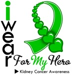 Kidney Cancer Hero Green Ribbon Shirts & Gifts