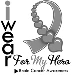Brain Cancer Hero Ribbon Shirts &amp; Gifts