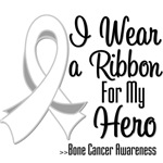 I Wear a Ribbon For My Hero Bone Cancer Shirts