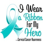I Wear a Ribbon For My Hero Cervical Cancer Shirts