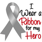 I Wear a Ribbon Brain Cancer Hero