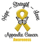 Hope Love Strength Appendix Cancer Shirts