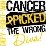 Childhood Cancer Picked The Wrong Diva Shirts 