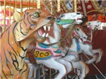 Tiger Horses on Carousel